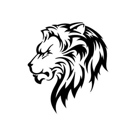 Illustration pour Lion Head. Silhouette Vector Illustration - image libre de droit