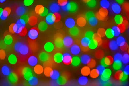 Photo pour Christmas bokeh background, copy space. Defocused new year bokeh lights, free space. Blurred bokeh. Abstract holiday glitter background. Lens flare pattern - image libre de droit