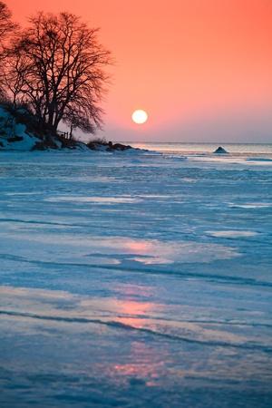 beautiful winter nature of the Primorsky Territory, Vladivostok, Russia
