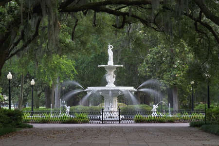Forsyth Park Fountain in Savannah Georgia.