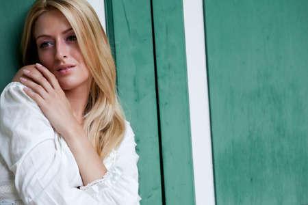 Beautifull blond woman feeling sexy