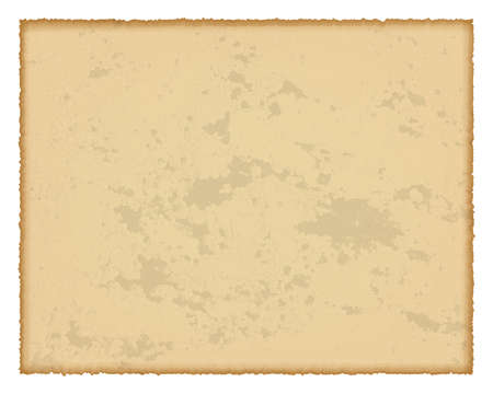 Illustration for Old paper with burnt edges isolated on white background with place for your text. Vector illustration - Royalty Free Image