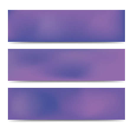 Illustration for Smooth abstract blurred gradient purple banners set. Abstract Creative multicolored background. Vector illustration - Royalty Free Image