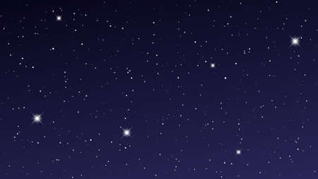 Illustration pour Night sky with many stars. Abstract nature background with stardust in deep universe. Vector illustration. - image libre de droit