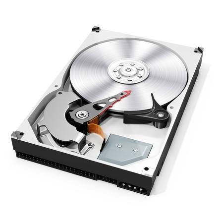 Photo pour 3d detailed open hard drive disk  on white background - image libre de droit