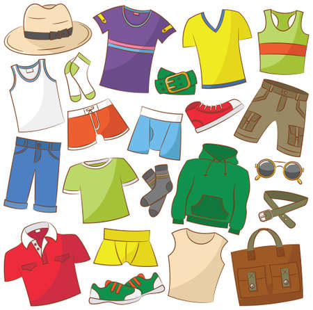 Collection of summer menwear and accessories