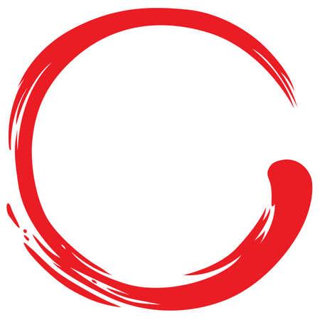 Illustration pour Red Zen Circle Simple Symbol - image libre de droit
