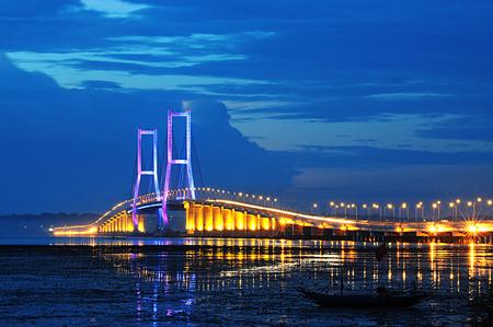 Surmadu bridges that connect Surabaya, Java island  and Madura island