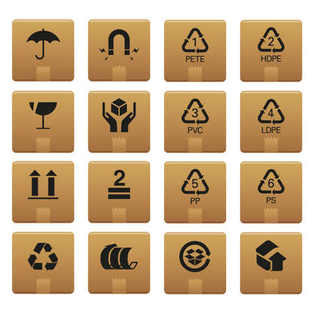01 Packaging Icons   Professional  set for your website, application, or presentation. The graphics can easily be edited colored individually and be scaled to any size