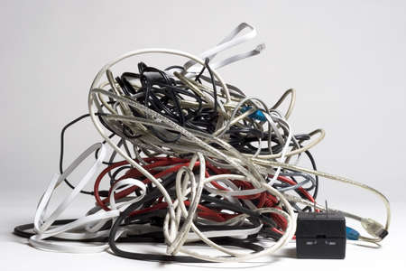 Pile of tangled cords