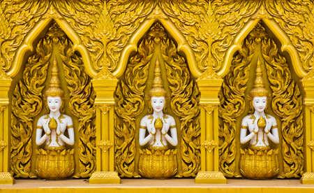 Thai art design of temple's wall