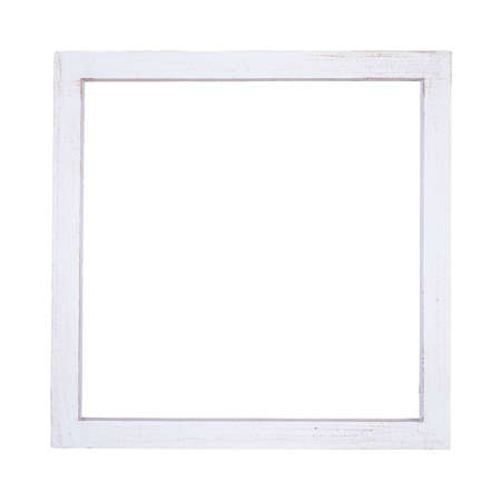 Photo pour White picture frame in square shape isolated on white - image libre de droit