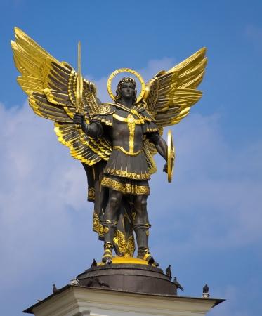 Archangel Michael Saint patron of Kiev in independence square, Kiev