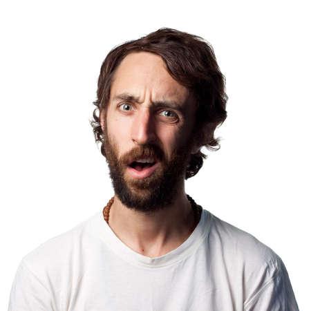 Very confused looking guy