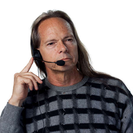 Man answering the phones, sales service support