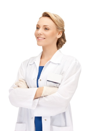 bright picture of an attractive female doctor