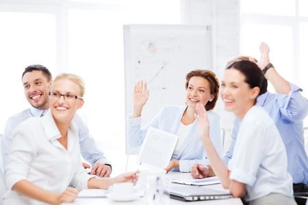 Photo pour business concept - business team having meeting in office - image libre de droit