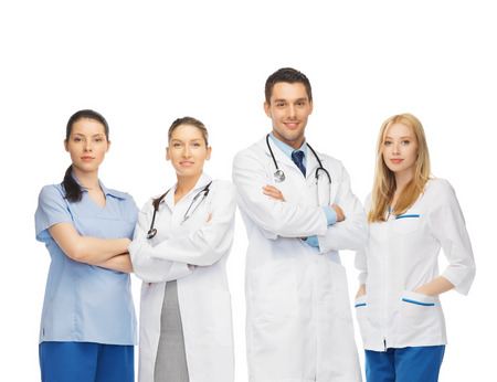 Photo pour healthcare and medicine concept - young team or group of doctors - image libre de droit