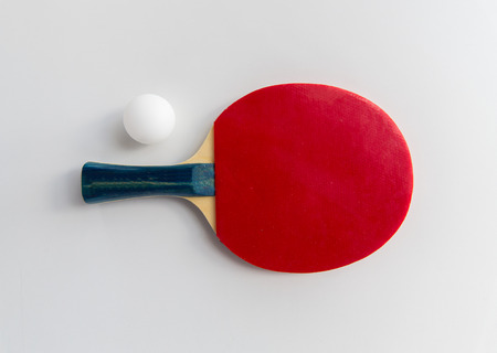 Photo pour sport, fitness, healthy lifestyle and objects concept - close up of  table tennis rackets with ball - image libre de droit