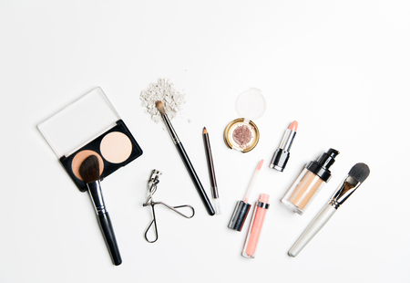Photo for cosmetics, makeup and beauty concept - close up of makeup stuff - Royalty Free Image