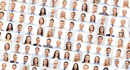 Photo pour success concept - collage with many business people portraits - image libre de droit