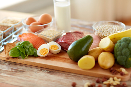 Photo for natural rich in protein food on table - Royalty Free Image
