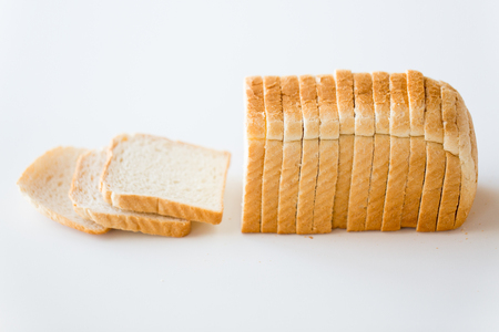 Photo for close up of white toast bread - Royalty Free Image