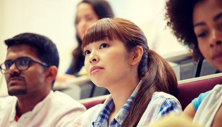 Foto de group of international students at lecture - Imagen libre de derechos