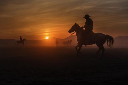 sad and tired cowboys