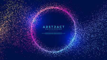 Foto de Dynamic abstract liquid flow particles background. Shining abstract particle flow background. Futuristic background with dots combination. Eps10 Vector background. - Imagen libre de derechos