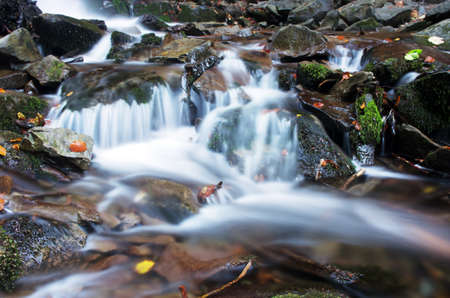 beautiful waterfall scene, ukraine carpathian shipot waterfall