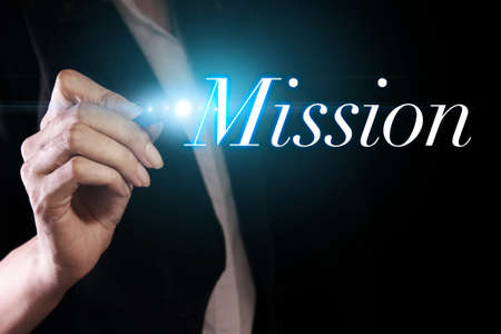 Hand writing mission on virtual screen