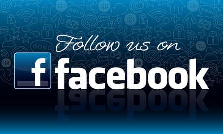 Photo pour Follow us on Facebook icon design - image libre de droit