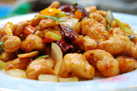 Thai food,stir fired chicken with cashew nuts a famous thai dish