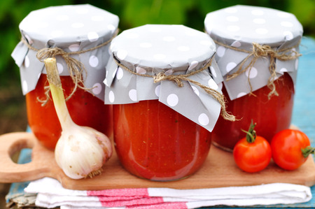 Canned Tomato Sauce in Jars