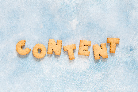 Crackers Arranged as a Word Content, copy space for text