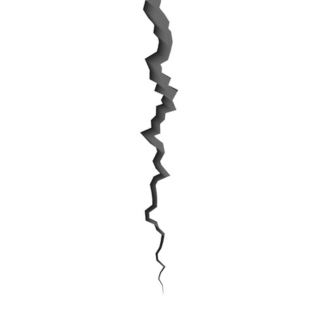 Earth crack isolated on  background vector illustration