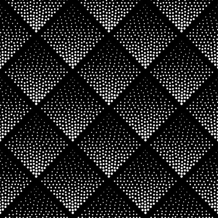 Photo for Seamless Pattern Background . Hipster Pattern . Monochrome Pattern . Black and White Pattern . Hipster Geometric Design . Pattern . Abstract Design . Halftone Background . Dot Pattern Background. Triangle Pattern . - Royalty Free Image