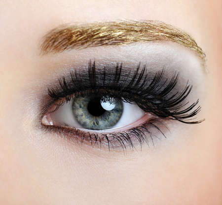 Woman eye with style and fashion make-up