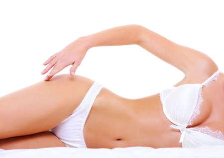 Photo pour Sexy lingerie on the seductive perfect woman's body  - image libre de droit