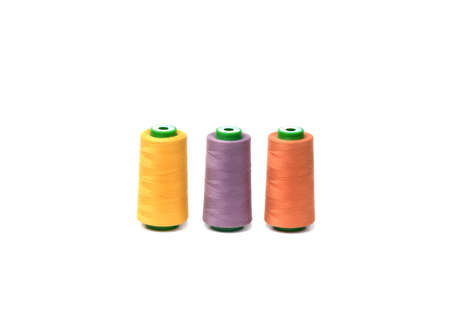 Coloreds spools  isolated on white background