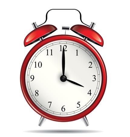 Red vintage alarm clock