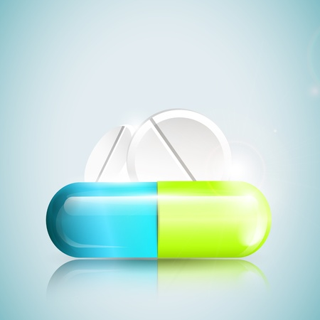 Tablets and pills - concept