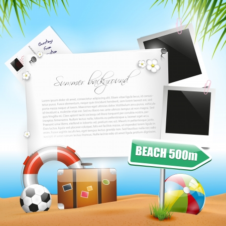 Foto de Summer holiday - background with copyspace - Imagen libre de derechos