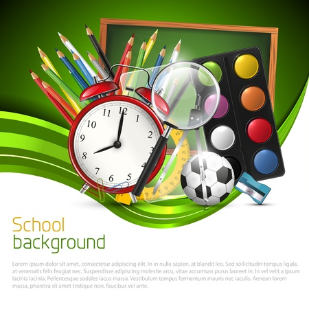 Photo for School background with school supplies and place for text - Royalty Free Image