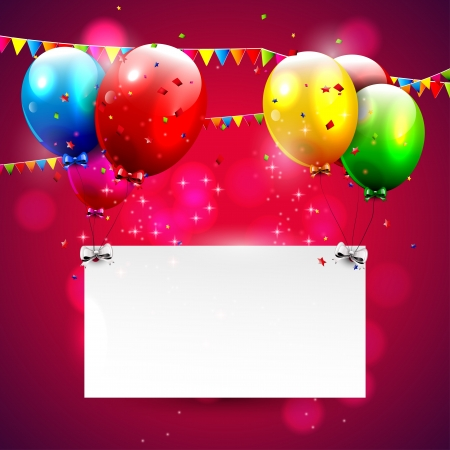 Modern red birthday background with place for text