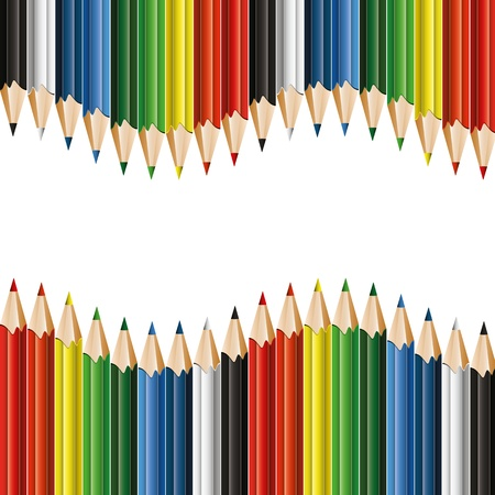 Colorful pencils -  background with copyspace