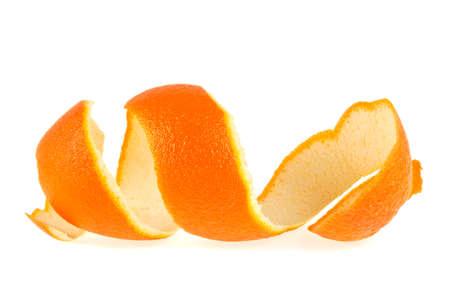 Photo pour Skin orange on a white background - image libre de droit
