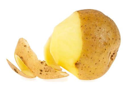 Foto für Peeled potato isolated on a white background - Lizenzfreies Bild