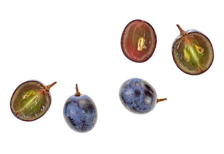 Foto für Fresh blue grape on a white background, top view. - Lizenzfreies Bild